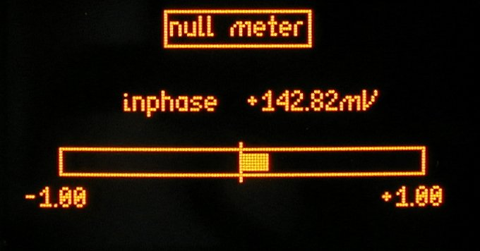 GP102 null meter (set to display inphase null), often used for centering LVDT  control devices and bridging measurements